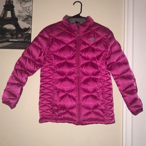 Kids hot pink puffer jacket